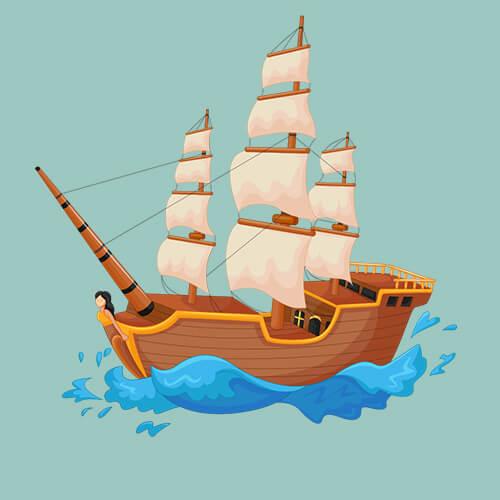 Πειρατικό καράβι σε κύματα