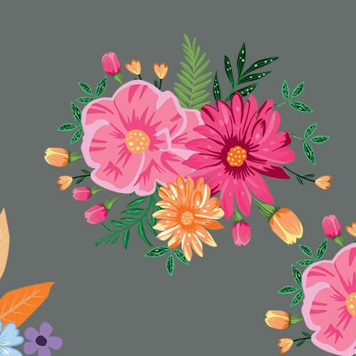 Πανέμορφο σετ με διάφορα λουλούδια