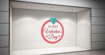 Αγίου Βαλεντίνου - Κύκλος με καρδιές - Happy Valentine's Day