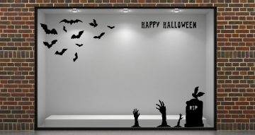 Αποκριάτικα (Halloween) - Halloween νυχτερίδες με ζόμπι