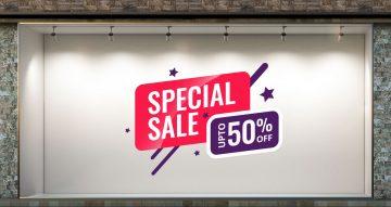 Αυτοκόλλητα καταστημάτων - Special sale αυτοκόλλητο