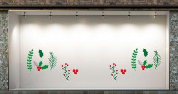 Αυτοκόλλητα καταστημάτων - Συλλογή πράσινων γκι
