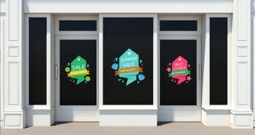 Αυτοκόλλητα καταστημάτων - Καλοκαιρινές προσφορές - Πολύχρωμες ετικέτες