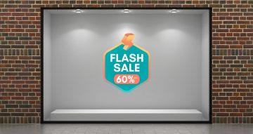 Αυτοκόλλητα καταστημάτων - Καλοκαιρινές προσφορές Flash Sale με δικό σας ποσοστό