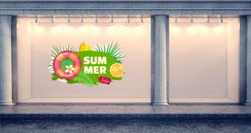 Αυτοκόλλητα καταστημάτων - Καλοκαιρινές προσφορές Summer Sale