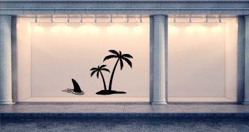 Αυτοκόλλητα καταστημάτων - Νησάκι με πτερύγιο καρχαρία