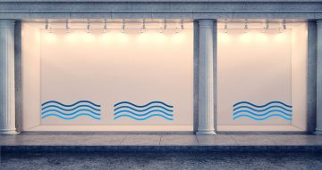 Αυτοκόλλητα καταστημάτων - Καλοκαιρινή σύνθεση από κύματα