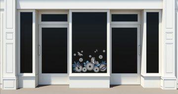 Ανοιξιάτικη βιτρίνα - Ανοιξιάτικη/Καλοκαιρινή σύνθεση με πεταλούδες και λουλούδια