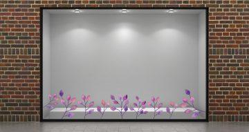 Ανοιξιάτικη βιτρίνα - Ανοιξιάτικη/Καλοκαιρινή σύνθεση με μωβ φύλλα