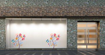 Ανοιξιάτικη βιτρίνα - Ανοιξιάτικο/Καλοκαιρινό φυτό με πολύχρωμα λουλούδια και πεταλούδες
