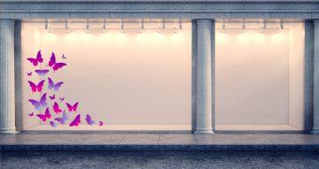 Ανοιξιάτικη βιτρίνα - Ανοιξιάτικη/Καλοκαιρινή βιτρίνα με πεταλούδες