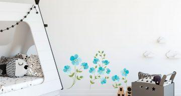 Floral - Διάφορα μπλέ λουλούδια
