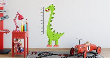 Αυτοκόλλητα Τοίχου - Μετρητής ύψους με δεινόσαυρο