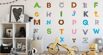Αλφάβητα - Αλφάβητο πολύχρωμο από ζωάκια