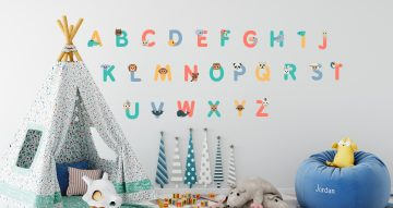Αλφάβητα - Πολύχρωμο αλφάβητο με πρόσωπα από ζωάκια για κάθε γράμμα