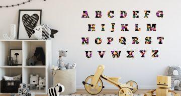 Αλφάβητα - Αλφάβητο με γράμματα από λουλούδια