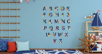 Αλφάβητα - Αλφάβητο με λουλούδια