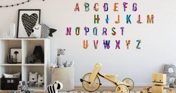Selected products - Πολύχρωμο αλφάβητο με λουλούδια
