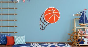 Αυτοκόλλητα Τοίχου - Μπάλα του μπάσκετ
