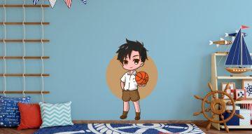 Άνθρωποι & φιγούρες - Παιδί με μπάλα μπάσκετ σε καρτουνίστικο στυλ