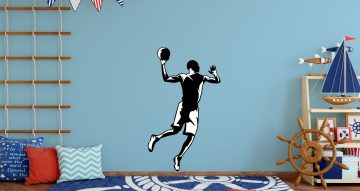 Άνθρωποι & φιγούρες - Ασπρόμαυρη φιγούρα αθλητή του μπάσκετ