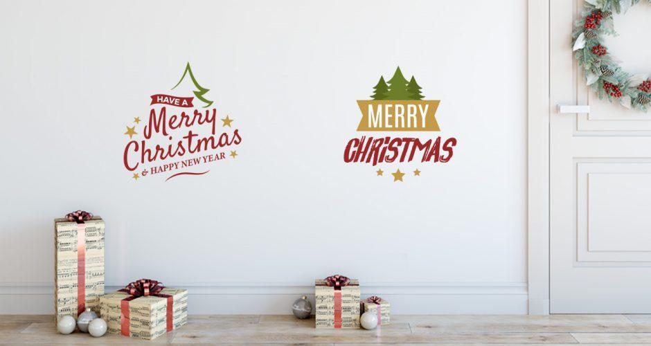 Αυτοκόλλητα Τοίχου - Merry Christmas αυτοκόλλητα σε διάφορα στυλ