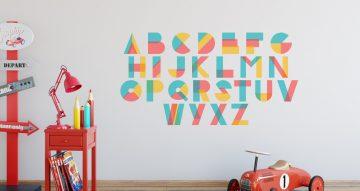 Αλφάβητα - Αλφάβητο από πολύχρωμα σχήματα