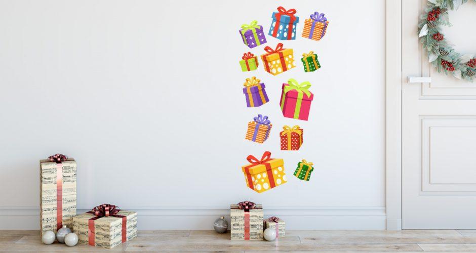 Αυτοκόλλητα Τοίχου - Χριστουγεννιάτικα δώρα