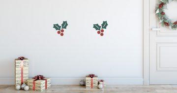 Αυτοκόλλητα Τοίχου - Αυτοκόλλητα με Χριστουγεννιάτικα φυτά