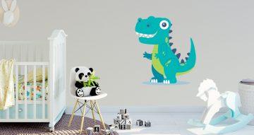 Αυτοκόλλητα Τοίχου - Αστείος δεινόσαυρος T-Rex