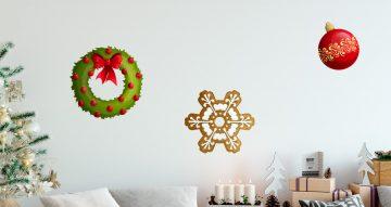 Αυτοκόλλητα Τοίχου - Διάφορα Χριστουγεννιάτικα αντικείμενα