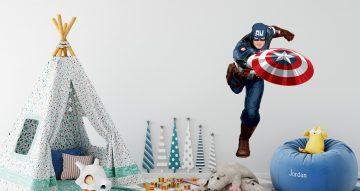 Αυτοκόλλητα Τοίχου - Captain America