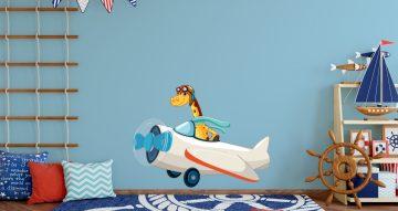 Αεροπλάνα - Καρτουνίστικο αεροπλάνο με καμηλοπάρδαλη πιλότο