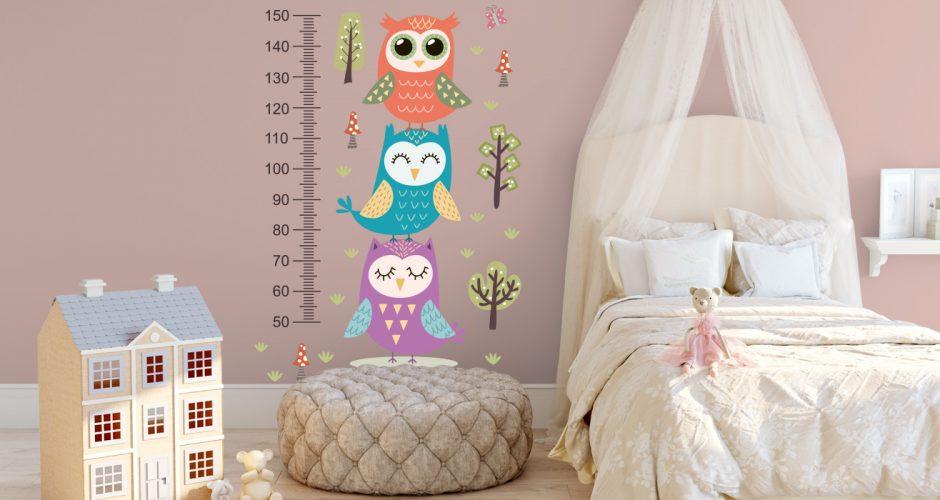 Selected products - Μετρητής ύψους με πουλάκια, δέντρα και πεταλούδες