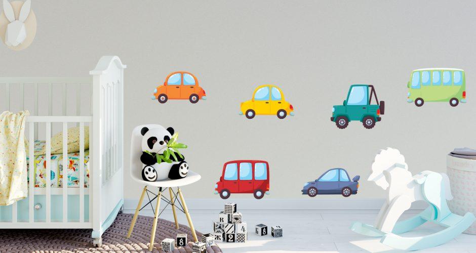 Selected products - Σύνθεση με αυτοκίνητα και λεωφορεία σε καρτουνίστικο στυλ