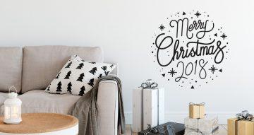 Αυτοκόλλητα Τοίχου - Μονόχρωμα Merry Christmas αυτοκόλλητα