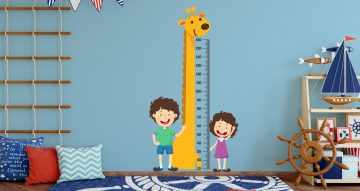 Selected products - Μετρητής ύψους με καμηλοπάρδαλη και παιδάκια
