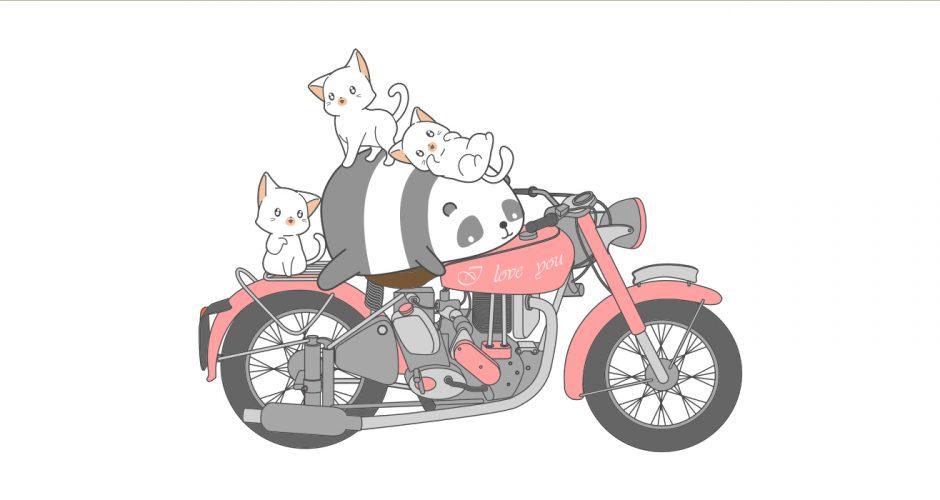 Selected products - Μηχανή με πάντα και γάτες