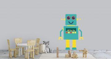 Αυτοκόλλητα Τοίχου - Ρομποτάκι που χορεύει