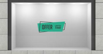 Αυτοκόλλητα καταστημάτων - Limited time offer