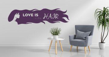 Αυτοκόλλητα καταστημάτων - Love is in the Hair