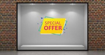 Αυτοκόλλητα καταστημάτων - Colorful offers