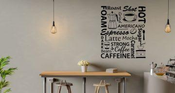 Αυτοκόλλητα καταστημάτων - Espresso art