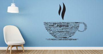 Αυτοκόλλητα καταστημάτων - Espresso cup