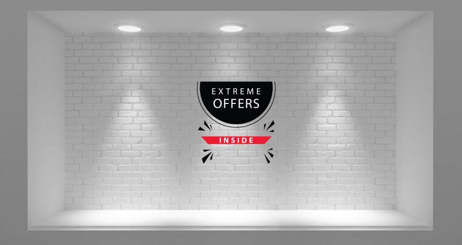 Αυτοκόλλητα καταστημάτων - Extreme offers