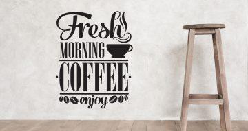 Αυτοκόλλητα καταστημάτων - Fresh morning coffee