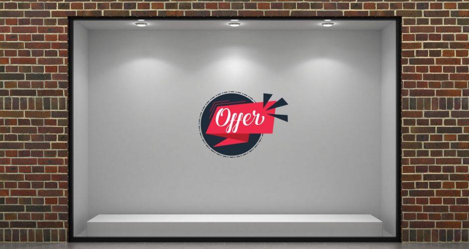 Αυτοκόλλητα καταστημάτων - Funky offers