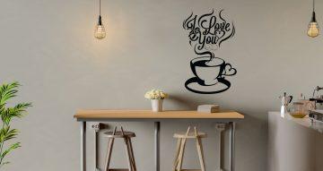 Αυτοκόλλητα καταστημάτων - I love coffee