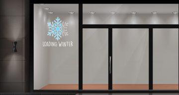 Χειμωνιάτικη βιτρίνα - Loading Winter με κρύσταλλο χιονιού