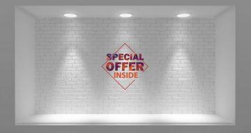 Αυτοκόλλητα καταστημάτων - Special offer inside